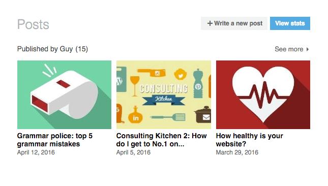 Screengrab of Linkedin posts