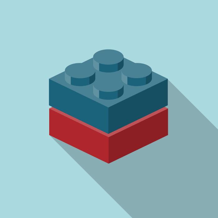 Lego bricks stacked up
