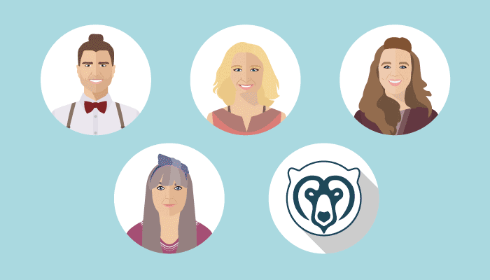 illustration of the Wildheart team
