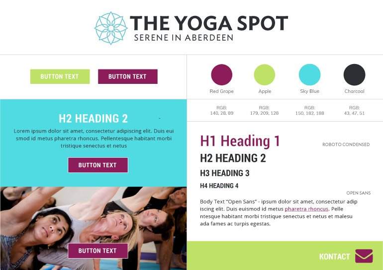 The Yoga Spot Style Guide