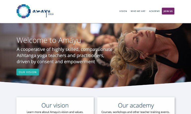 Amayu Yoga Homepage