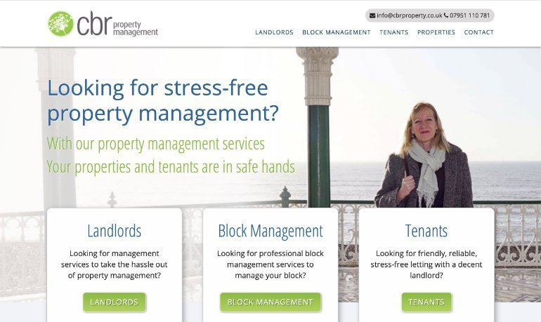 CBR Property Management Homepage