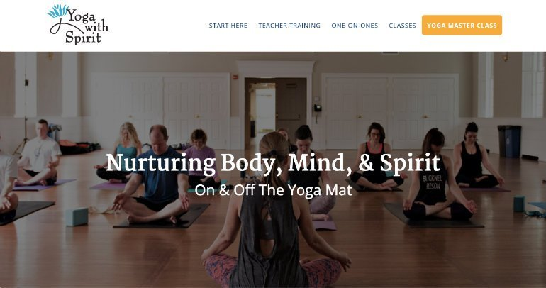 Yoga With Spirit Homepage
