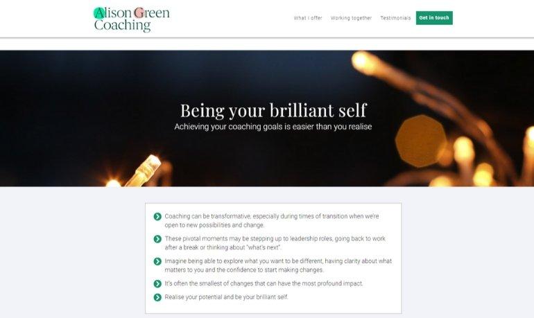 Alison Green Coaching Homepage