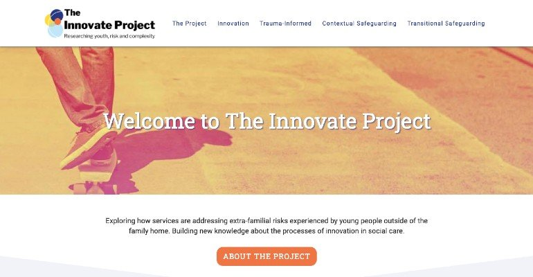 The Innovate Project Homepage
