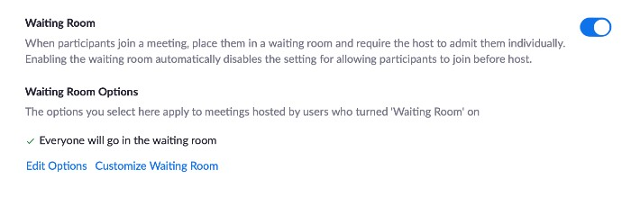 Zoom Waiting Room Screenshot