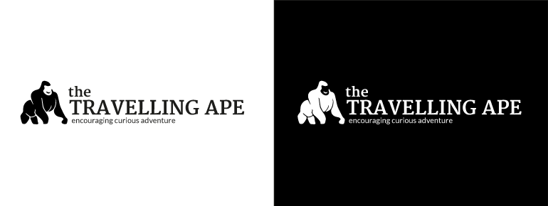 The Travelling Ape Logo Concept 2