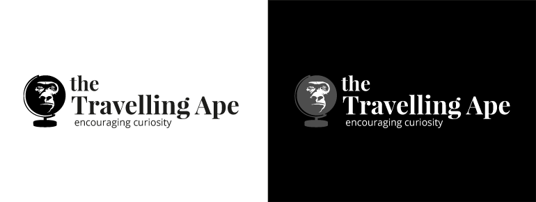The Travelling Ape Logo Concept 3